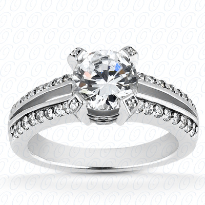 PLAT Fancy Cut Diamond Unique Engagement Ring