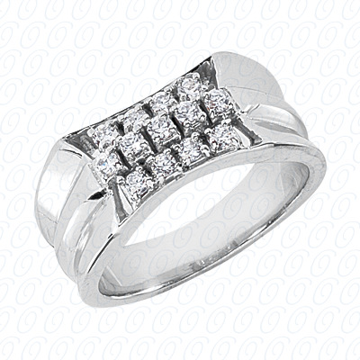 14KP Fancy Styles Cut Diamond Unique Engagement Ring 0.65 CT. Mens Rings Style