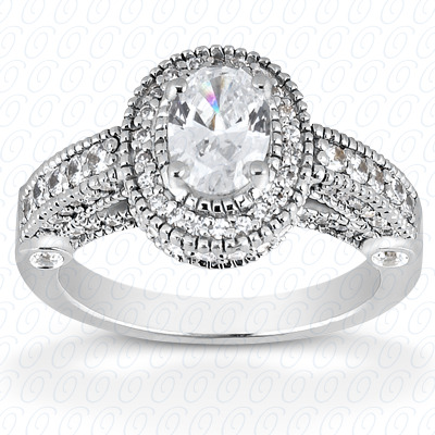 14KP Oval 0.66 CT. Halo
