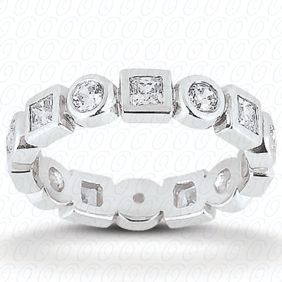 PLAT Combinations 0.96 CT. Eternity Wedding Bands
