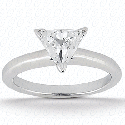 14KP Trillion Cut Diamond Unique Engagement Ring