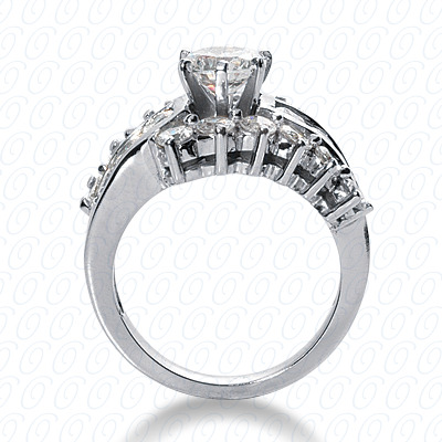 14KW Fancy Cut Diamond Unique Engagement Ring 1.68 CT. Engagement Rings Style