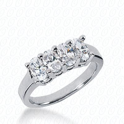 14KP Oval 1.32 CT. Wedding Bands