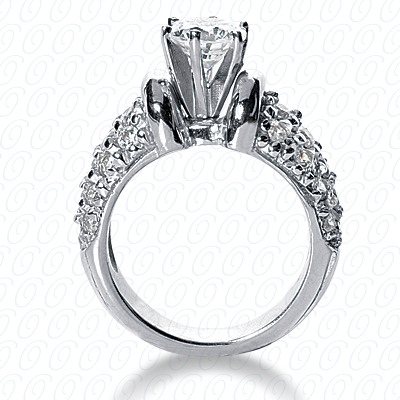 14KP Fancy Cut Diamond Unique <br>Engagement Ring 1.13 CT. Engagement Rings Style