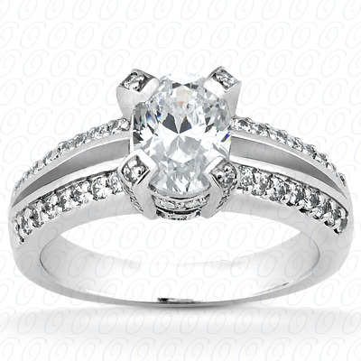 14KP Fancy Cut Diamond Unique <br>Engagement Ring 0.42 CT. Engagement Rings Style