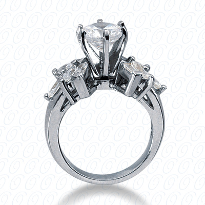 14KP Fancy Cut Diamond Unique <br>Engagement Ring 1.14 CT. Engagement Rings Style