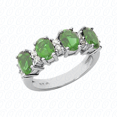 14KW Combination Cut Diamond Unique Engagement Ring 0.25 CT. Color Stone Rings Style