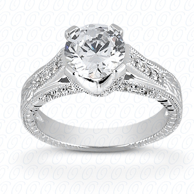 14KP Antique Cut Diamond Unique <br>Engagement Ring 0.33 CT. Engagement Rings Style