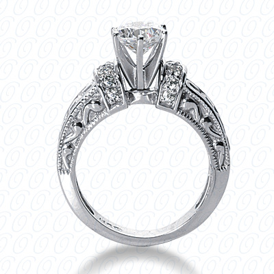 14KP Antique Cut Diamond Unique <br>Engagement Ring 1.33 CT. Engagement Rings Style