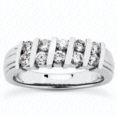 14KP Round Cut Diamond Unique <br>Engagement Ring 0.50 CT. Wedding Band Sets Style