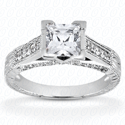 14KP Antique Cut Diamond Unique <br>Engagement Ring 0.36 CT. Engagement Rings Style