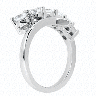 14KW Fancy Rings Cut Diamond Unique Engagement Ring 0.50 CT. Fancy Rings Style