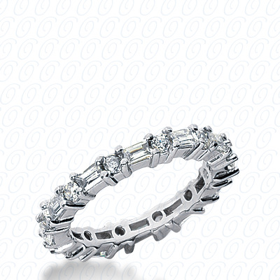 PLAT Combinations 1.44 CT. Eternity Wedding Bands