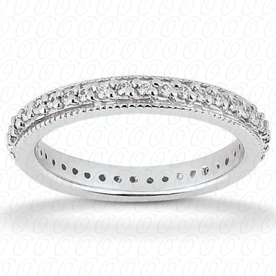 14KP  Round Cut Diamond Unique <br>Engagement Ring 0.36 CT. Eternity Wedding Bands Style