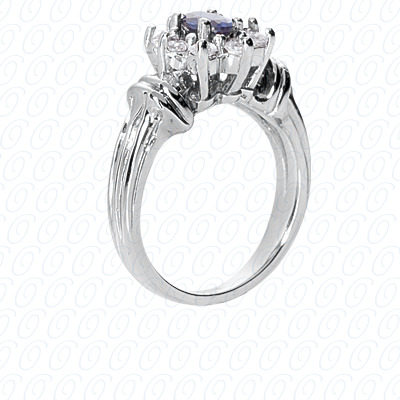 14KW Fancy Rings Cut Diamond Unique Engagement Ring 0.40 CT. Fancy Rings Style
