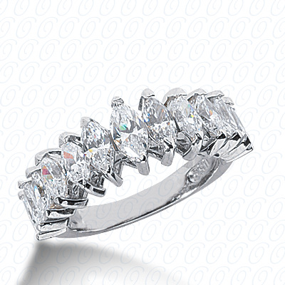 14KW Marquise Cut Diamond Unique Engagement Ring 2.57 CT. Wedding Bands Style
