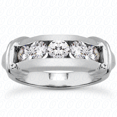 14KP Round Cut Diamond Unique <br>Engagement Ring 1.00 CT. Wedding Band Sets Style