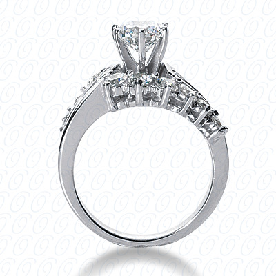 14KP Fancy Cut Diamond Unique <br>Engagement Ring 1.29 CT. Engagement Rings Style