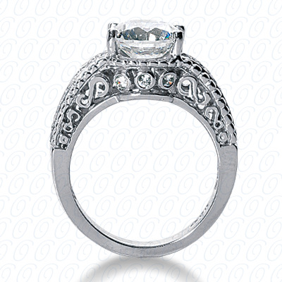 14KP Antique Cut Diamond Unique <br>Engagement Ring 0.30 CT. Engagement Rings Style