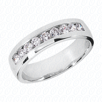 14KP Wedding Bands 0.81 CT. Mens Rings