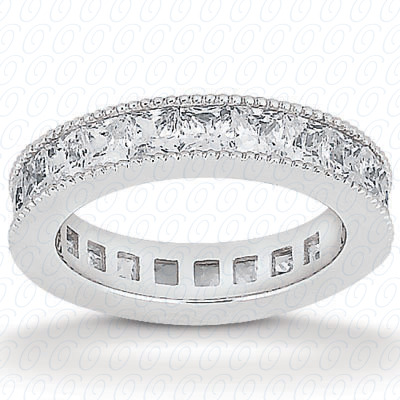 14KP Princess Cut Diamond Unique <br>Engagement Ring 0.90 CT. Eternity Wedding Bands Style