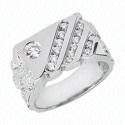 14KP Fancy Styles Cut Diamond Unique Engagement Ring 0.63 CT. Mens Rings Style