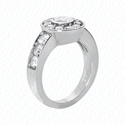 14KP Fancy Rings Cut Diamond Unique <br>Engagement Ring 1.95 CT. Fancy Rings Style