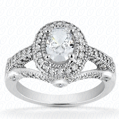 14KP Oval 0.53 CT. Halo