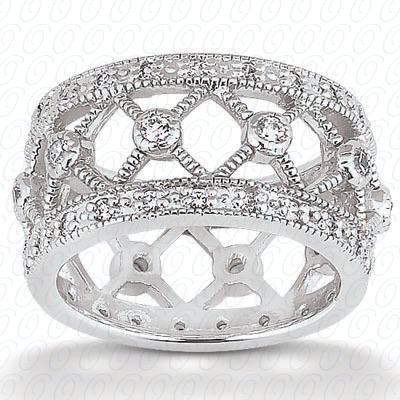14KP  Round Cut Diamond Unique <br>Engagement Ring 0.62 CT. Eternity Wedding Bands Style