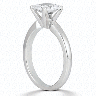 18KP Princess Cut Diamond Unique Engagement Ring