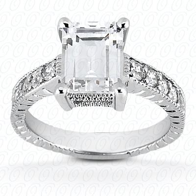 14KP Antique Cut Diamond Unique <br>Engagement Ring 0.10 CT. Engagement Rings Style
