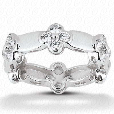 14KP  Round Cut Diamond Unique <br>Engagement Ring 1.00 CT. Eternity Wedding Bands Style