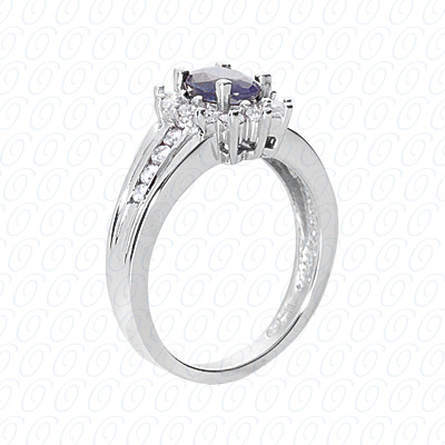 14KW Fancy Rings Cut Diamond Unique Engagement Ring 0.44 CT. Fancy Rings Style