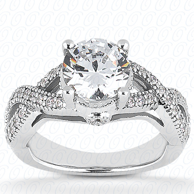 14KP Fancy Cut Diamond Unique <br>Engagement Ring 0.19 CT. Engagement Rings Style