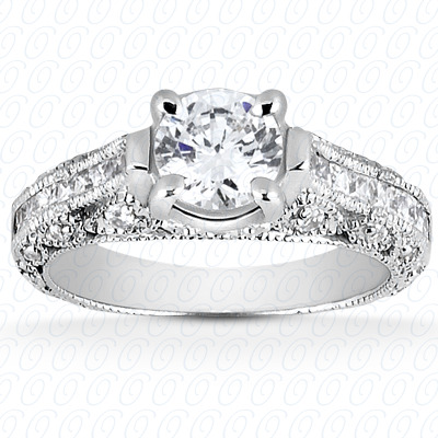 14KP Antique Cut Diamond Unique <br>Engagement Ring 0.52 CT. Engagement Rings Style