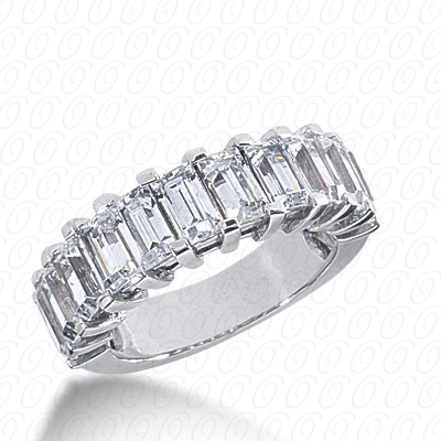 14KP Emerald Cut Diamond Unique <br>Engagement Ring 3.63 CT. Wedding Bands Style
