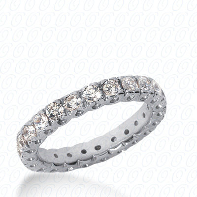 14KP  Round Cut Diamond Unique <br>Engagement Ring 0.34 CT. Eternity Wedding Bands Style