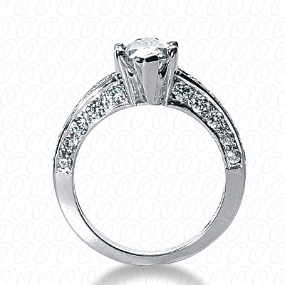 14KP Fancy Cut Diamond Unique <br>Engagement Ring 1.00 CT. Engagement Rings Style