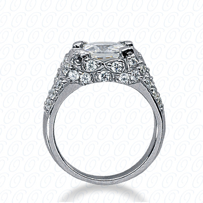 14KP Fancy Cut Diamond Unique <br>Engagement Ring 0.89 CT. Engagement Rings Style