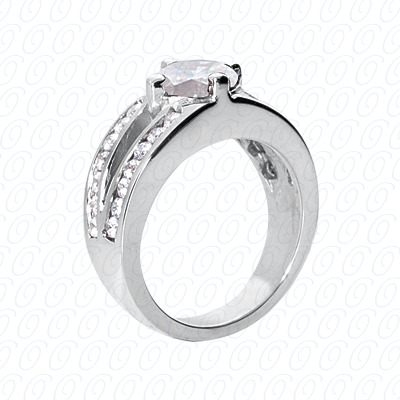14KP Fancy Rings Cut Diamond Unique <br>Engagement Ring 0.70 CT. Fancy Rings Style