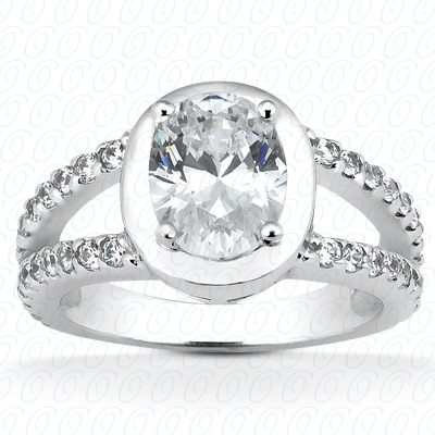14KP Oval 0.60 CT. Halo