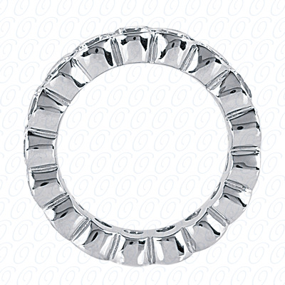 PLAT  Round 0.78 CT. Eternity Wedding Bands