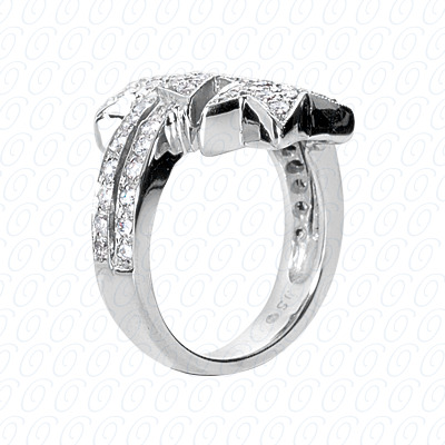 14KP Fancy Rings Cut Diamond Unique <br>Engagement Ring 0.94 CT. Fancy Rings Style