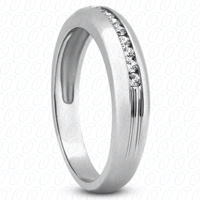 14KP Wedding Bands 0.23 CT. Mens Rings
