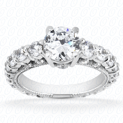 14KP Fancy Cut Diamond Unique <br>Engagement Ring 1.43 CT. Engagement Rings Style