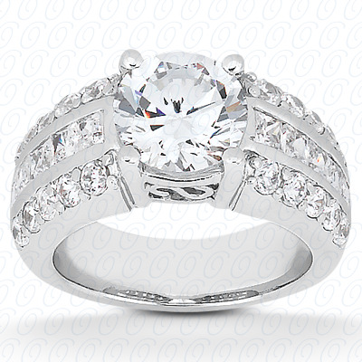 14KP Fancy Cut Diamond Unique <br>Engagement Ring 0.67 CT. Engagement Rings Style
