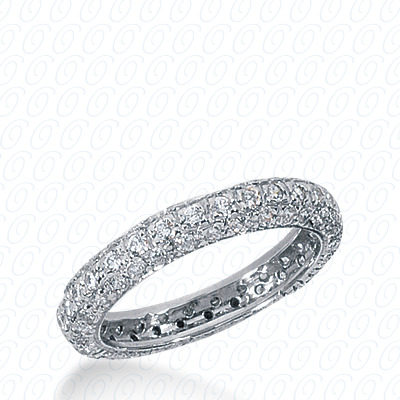 14KP  Round Cut Diamond Unique <br>Engagement Ring 0.81 CT. Eternity Wedding Bands Style
