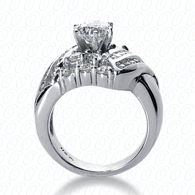 14KP Fancy Cut Diamond Unique <br>Engagement Ring 1.26 CT. Engagement Rings Style