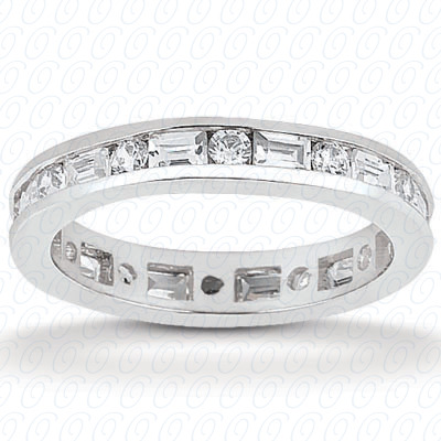 PLAT Combinations 1.43 CT. Eternity Wedding Bands