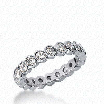 PLAT  Round 0.69 CT. Eternity Wedding Bands